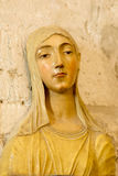 Saint Catherine of Siena. Beautiful wooden statue of St Catherine of Siena inside Papal Palace in Avignon royalty free stock photo