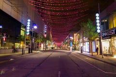 Saint Catherine Street Montreal Stock Image