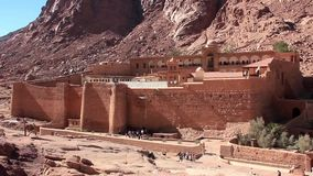 Saint Catherines Monastery. Sinai Peninsula. Egypt stock footage