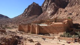 Saint Catherines Monastery. Sinai Peninsula. Egypt stock video footage