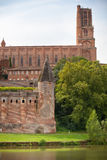 Saint Cecile church in the city of Albi, France. Royalty Free Stock Photos