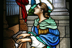 Saint Cecilia Stock Photography