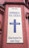 Saint Cecilia Roman Catholic Church in New York City stock images