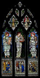 Saint Cecilia (Sancta Caecilia) stained glass Saint Cecilia at Oxford Christ Church, England, UK Royalty Free Stock Image