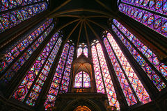 Saint Chapelle Upper Chapel - Paris Stock Photo