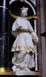 Saint Charlemagne, also known as Charles the Great. The statue of the Saint Charlemagne, also known as Charles the Great on the altar in the Franciscan Church of Stock Photo