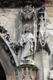 Saint Charlemagne. Statue, Saint Germain l`Auxerrois church, Paris Royalty Free Stock Photo