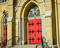 Saint Charles Parish and School in Downtown Burlington, WI royalty free stock images
