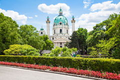 Saint Charles's Church (Wiener Karlskirche) in Vienna, Austria Royalty Free Stock Photos