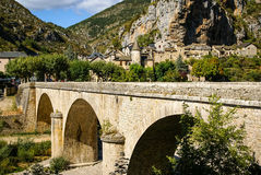 Saint Chely du Tarn, Tarn Gorges, France Stock Images