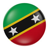 Saint Christopher and Nevis flag waving Stock Photos