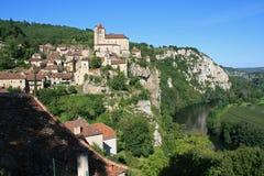 Saint-Cirq-la-Popie - França Imagens de Stock Royalty Free