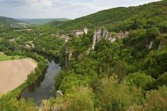 Saint-Cirq-Lapopie foto de stock