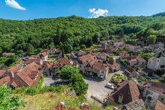 Saint Cirq Lapopie in Lot, France Stock Photography
