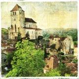 Saint-Cirq-Lapopie village Stock Images
