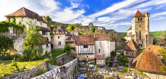 Saint-Cirq-Lapopie village Stock Photography
