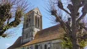 SAINT-CLAIR kościół W HEROUVILLE Zdjęcie Stock