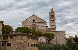 Saint Claire Cathedral in Assisi Stock Image