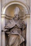 Saint Claude. By Guglielmo-Antonio Grandjacquet on the facade of Santi Claudio e Andrea dei Borgognoni church in Rome, Italy Royalty Free Stock Photo