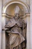 Saint Claude. By Guglielmo-Antonio Grandjacquet on the facade of Santi Claudio e Andrea dei Borgognoni church in Rome, Italy Royalty Free Stock Image