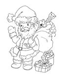 Saint Claus in black e white Stock Image