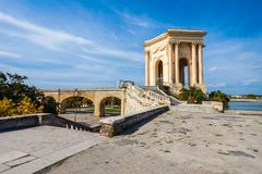 Saint Clement Aqueduct em Montpellier fotos de stock