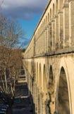 Saint Clement Aqueduct em Montpellier, França fotografia de stock