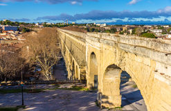 Saint Clement Aqueduct in Montpellier Stock Photo