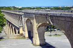 Saint Clement Aqueduct. In Montpellier, France Royalty Free Stock Image