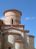 Saint Clement Church against vibrant blue sky, Ohrid of Macedonia Stock Photography
