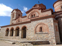 Saint Clement Church, beautiful stone church on the hilltop of Ohrid old town Stock Photos