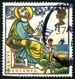 Saint Columba UK Postage Stamp Stock Photo