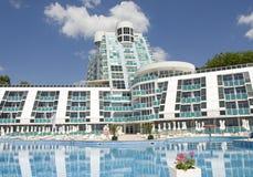 Saint Constantim e Helen, Bulgária, hotel Roubin Foto de Stock