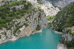Saint Croix lake in Verdon Grand canyon Royalty Free Stock Photos