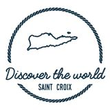 Saint Croix Map Outline Le vintage découvrent Photos stock