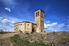 Saint Cross church Iglesia de Santa Cruz, Segovia, Spain Stock Photography