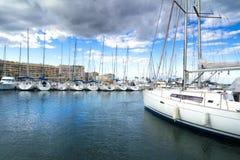 Saint Cyprien -jachthaven royalty-vrije stock foto's