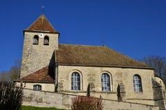 Saint Cyr en Arthies, France - february 29 2016 :  church Stock Photo