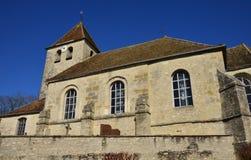 Saint Cyr en Arthies, France - february 29 2016 :  church Royalty Free Stock Image