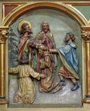 Saint Cyril. Relief on the church altar Royalty Free Stock Photos