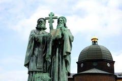 Saint Cyril and Methodius on Radhost Stock Photos