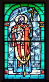 Saint Cyril. Stained glass window in the Church of the Assumption of the Blessed Virgin Mary in Pakrac, Croatia Royalty Free Stock Photos