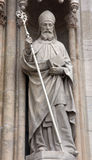 Saint Cyril. Statue of Saint Cyril on the portal of the cathedral dedicated to the Assumption of Mary in Zagreb Stock Photos