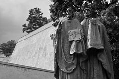Saint Cyril und Methodius statue Royalty Free Stock Photos