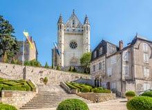 Saint d'église aigre de Terrasson Lavilledieu dans les Frances photo libre de droits