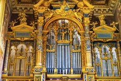 Saint d'or John Lateran Cathedral Rome Italy de basilique d'organe photo stock