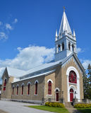 Saint Damien church. BEDFORD QUEBEC CANADA 08 10 17: Saint Damien church Bedford is a city located in the Monteregie region of southern Quebec, Canada and is the Royalty Free Stock Images