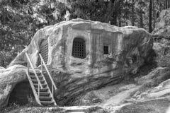 Saint Daniel Sihastrul cave Royalty Free Stock Photo