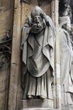 Saint Denis. Statue, Saint Germain l`Auxerrois church, Paris Royalty Free Stock Image