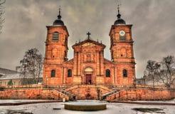 Saint-Die Cathedral in Saint-Die-des-Vosges - France Stock Image